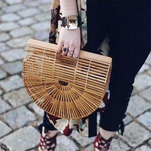Structured Arc Bamboo Handbag
